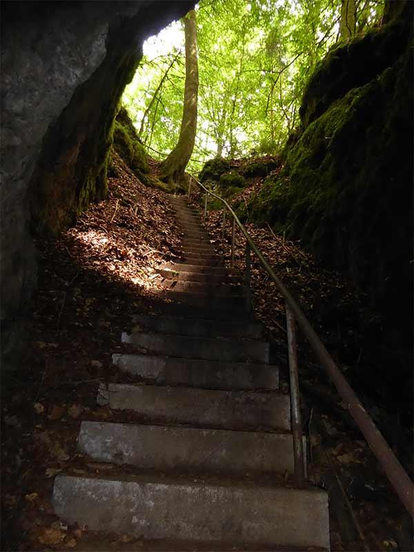 Arndthöhle Aufgang Treppen