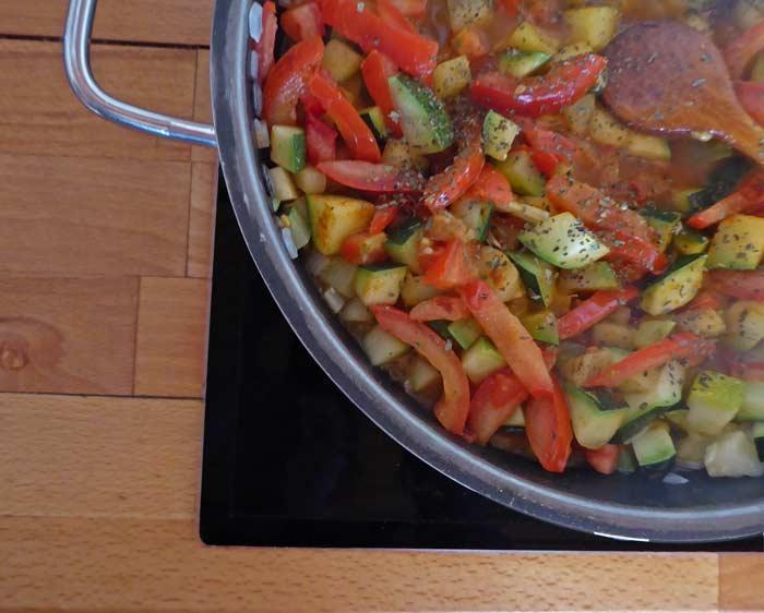 Zucchini-Gemüse Rezept