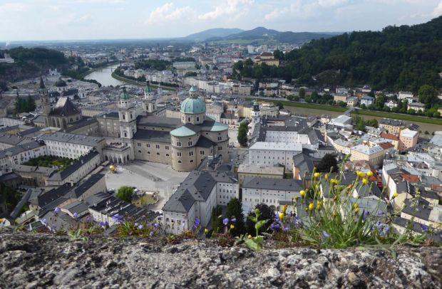 Salzburg Ausblick von Festung Hohensalzburg
